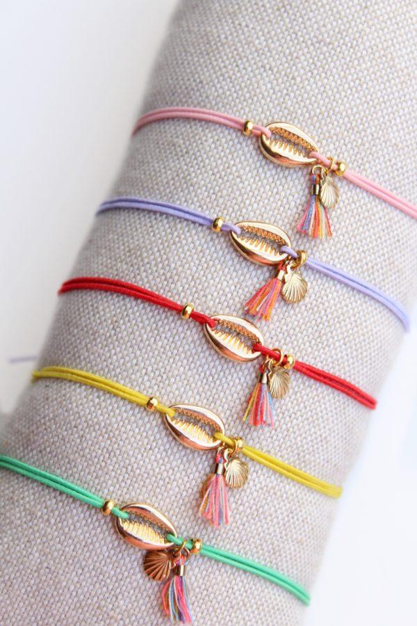 Gouden schelpen armbandje