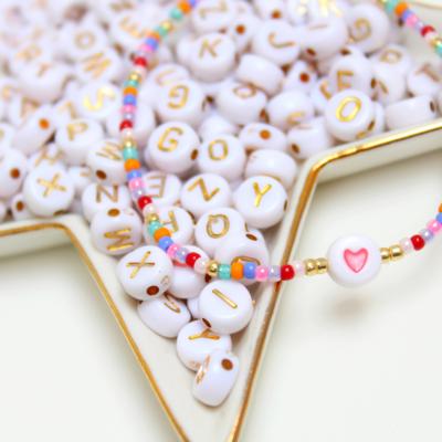 Multicolour armbandje met hart kraal