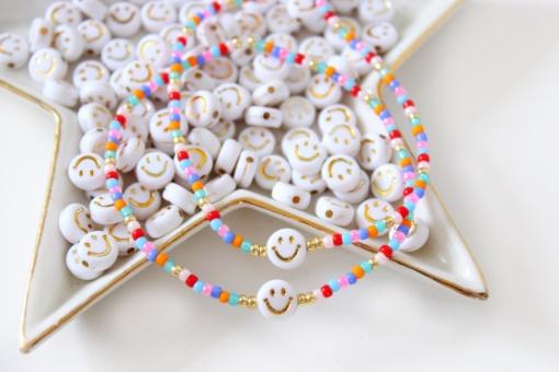 Multicolour smiley armbandjes